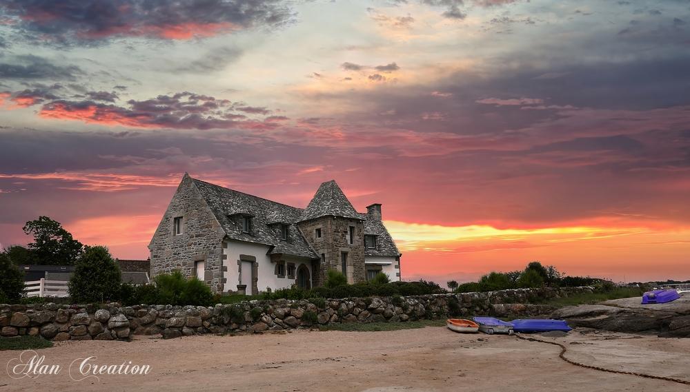 Maison sur plage