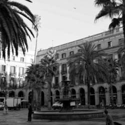 black and white, grayscale, barcelona, street, pho