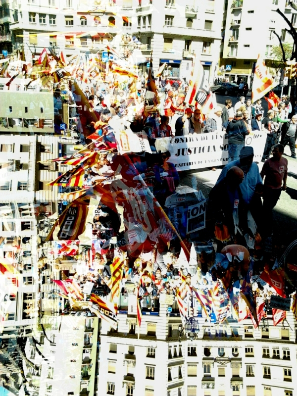 dabnotu,barcelona,street,protest,lensblr,catalunya