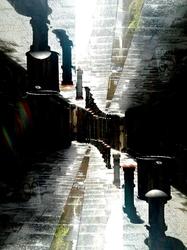 dabnotu, barcelona, street, double exposure