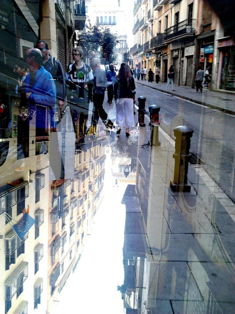 dabnotu,lensblr,double exposure,barcelona,street