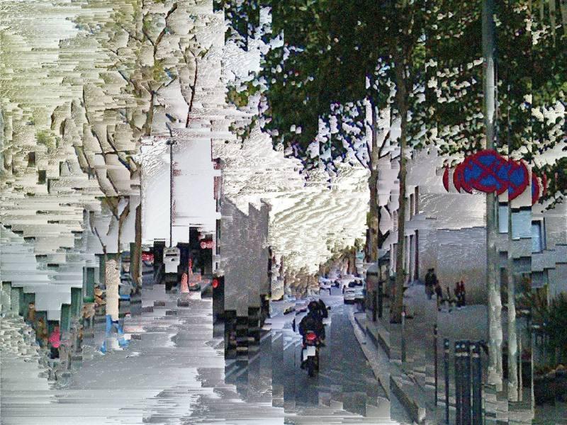 Barcelona street slit scan pixel sort deal, yep!