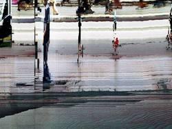 Barcelona, street, slit scan, pixel sort, uh!