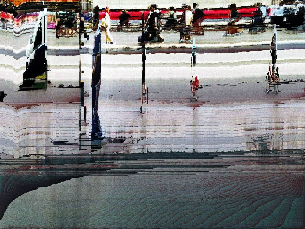Barcelona, street, slit scan, pixel sort, uh!