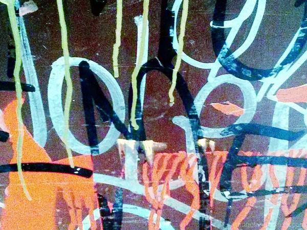 Raval, Barcelona graffiti detail + Camera360.