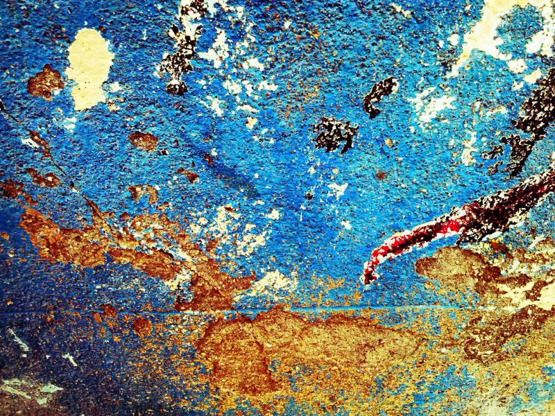 Barcelona wall detail, imagined map, travel ravel.