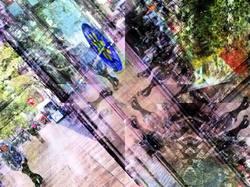 Barcelona smartphone street kaleidoscopic image.