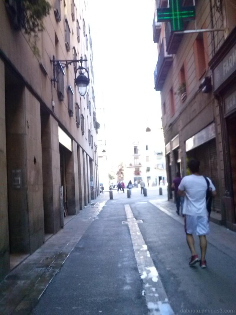 Barcelona street smartphone picture, unedited.