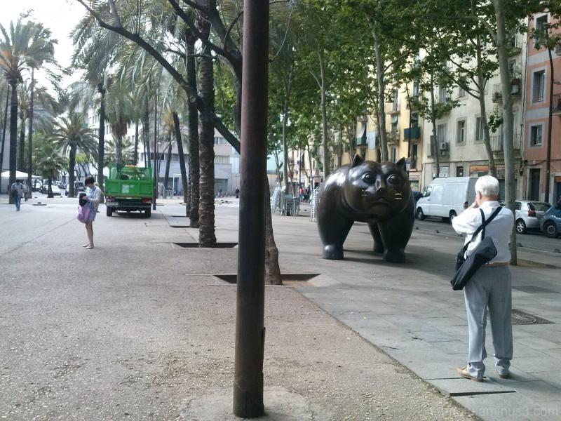 Barcelona, unedited smartphone street image.