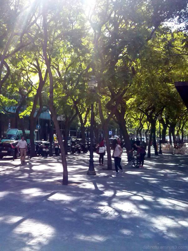 Slightly edited Barcelona street smartphone pic.