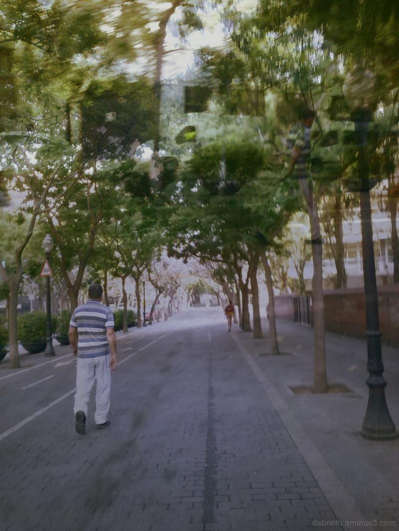 Barcelona street double exposure via smartphone.