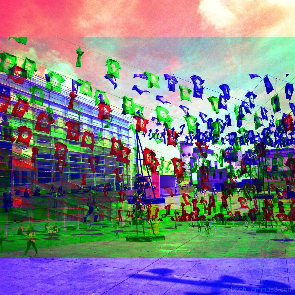 Barcelona street RGB layers avec The GIMP!