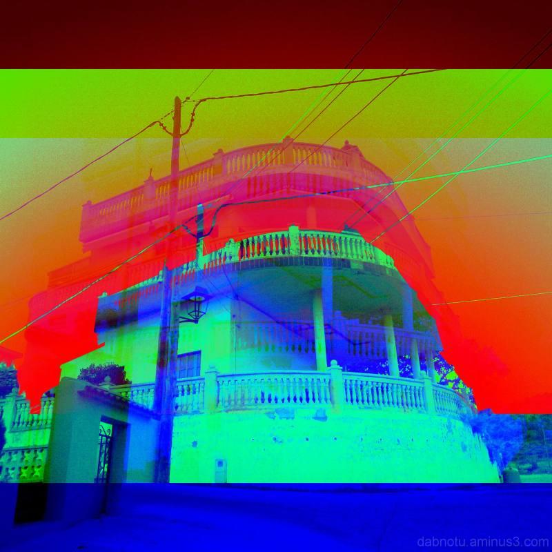 Capçanes building, street, RGB style via The GIMP!