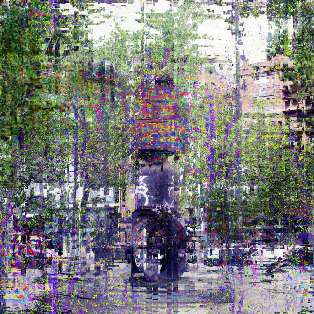 Barcelona street abstracted scene avec The GIMP!
