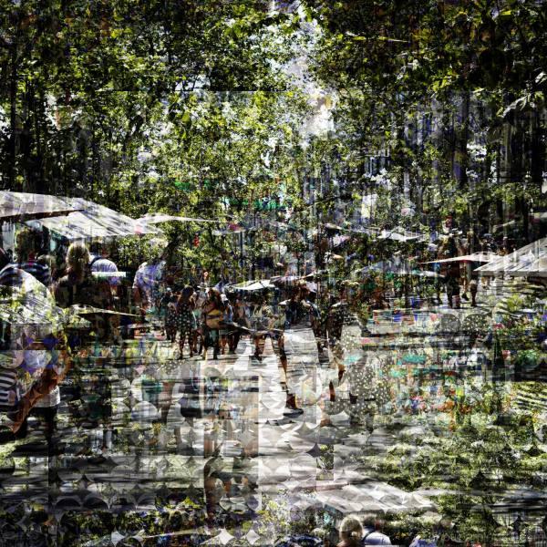 Barcelona street sequence/layers photomanipulation