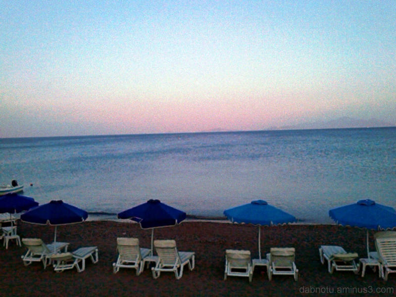 Kefalos, Kos, Greece, beach, sunset, edit.