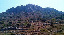 A view, of the mount near the Kefalos Beach coast.