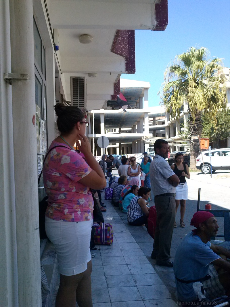 Waiting for the bus to Knidos, in Datça, Turkey...