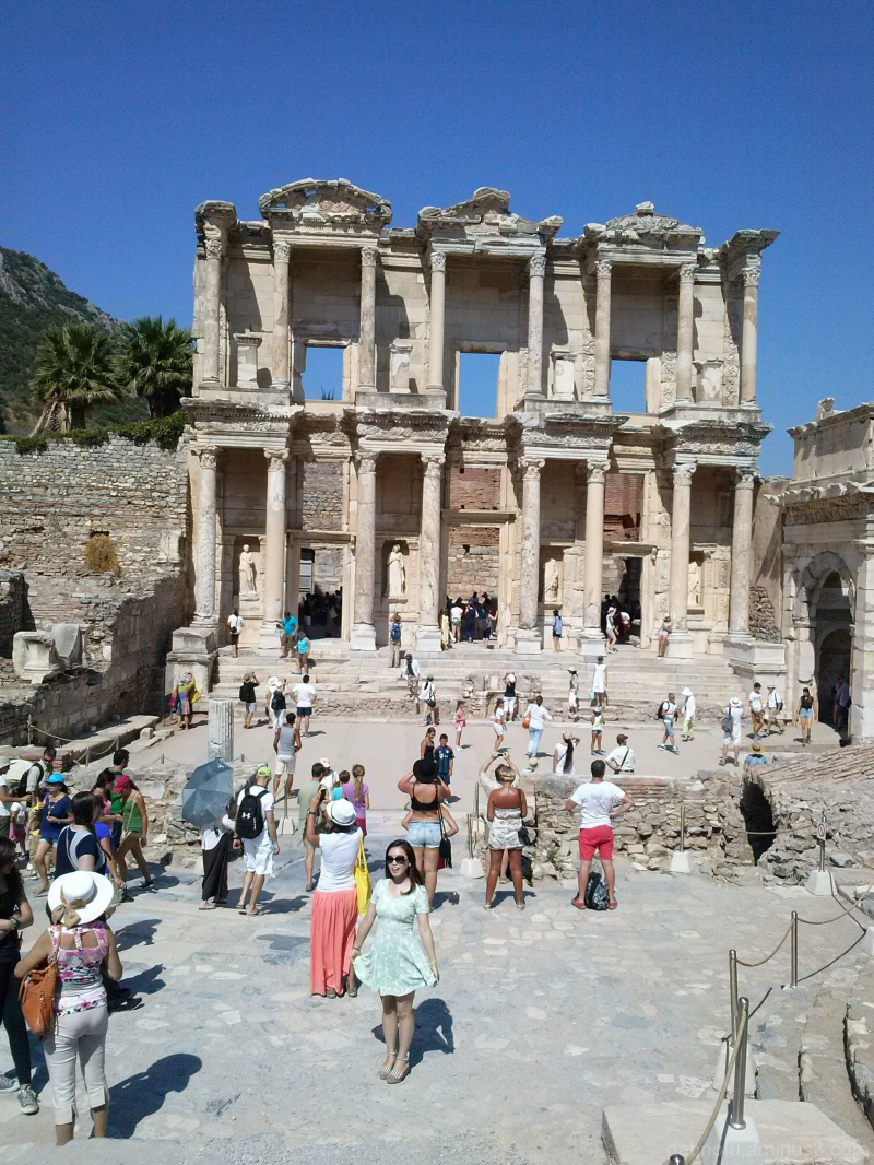 A heavily photographed Library of Celsus, Ephesus.