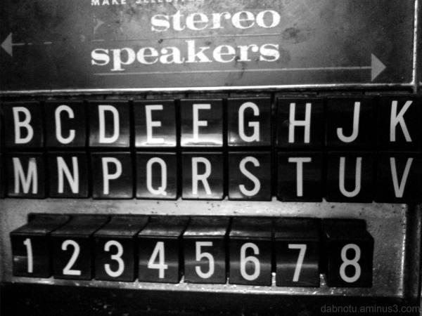 Jukebox panel at Big J's, Barcelona.