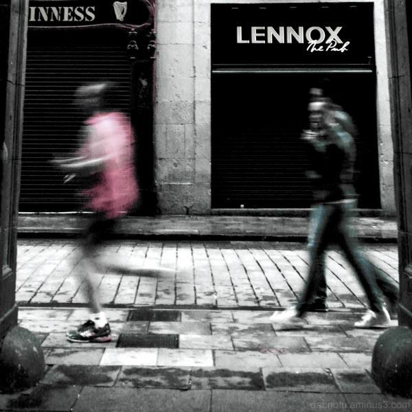 Barcelona street scene, edit.