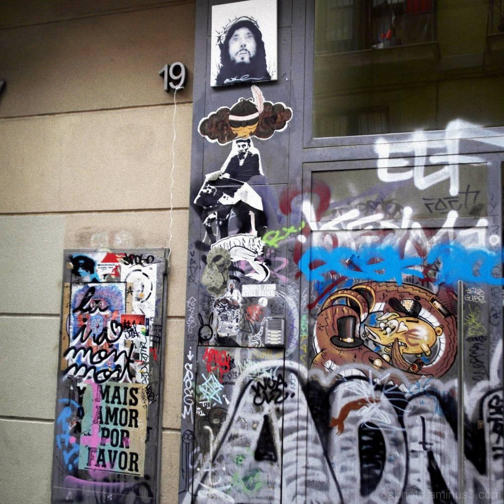 Gritty graffiti, El Raval, Barcelona. Yech!