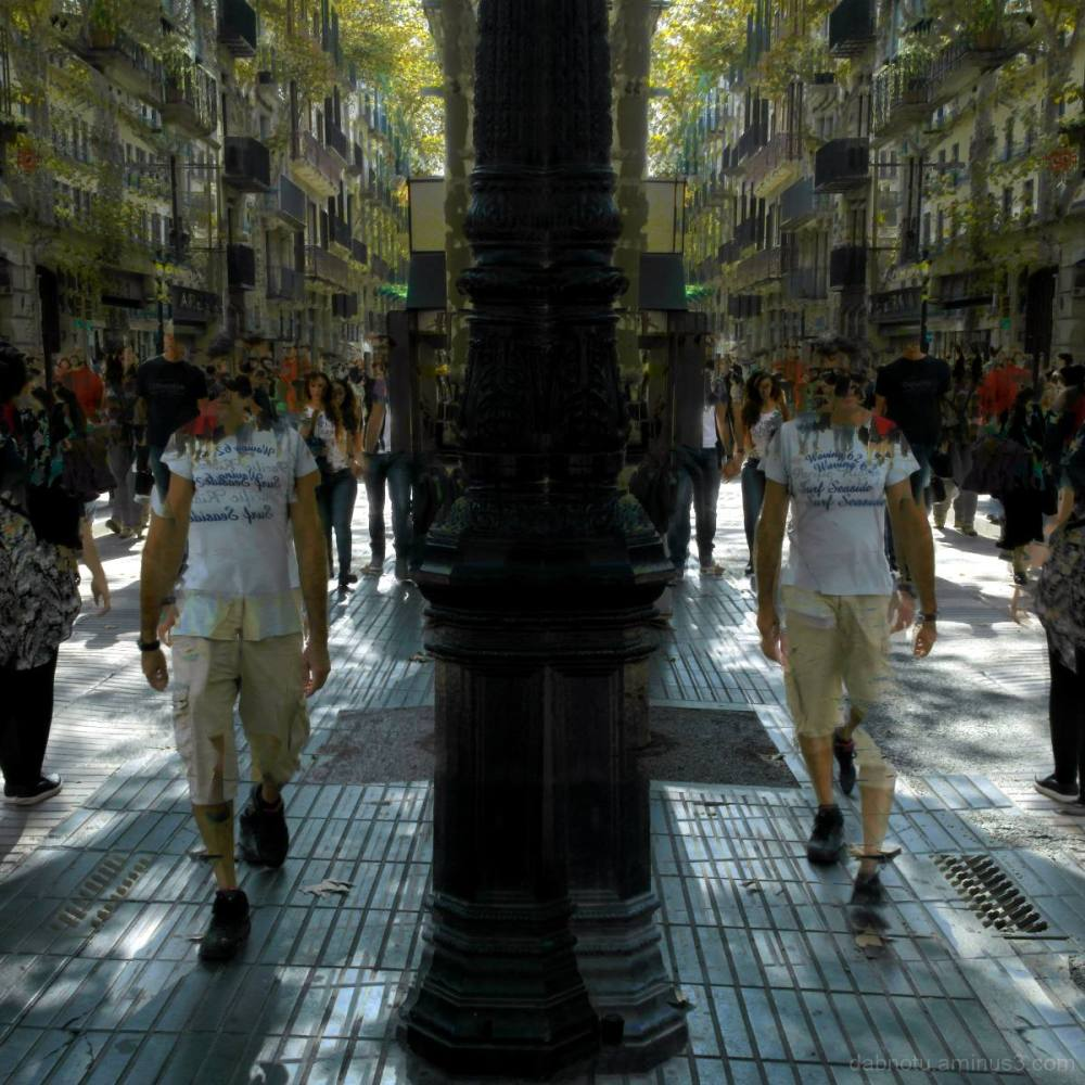 Barcelona street sequence/superimposed/La Rambla.
