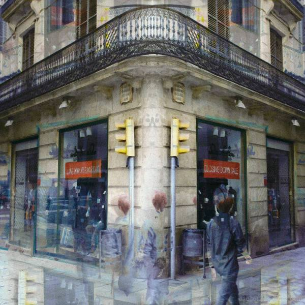 A soon to be closed clothes shop in Barcelona. :-(