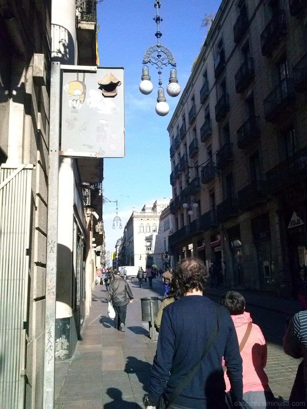 Straight up Barcelona street smartphone image.