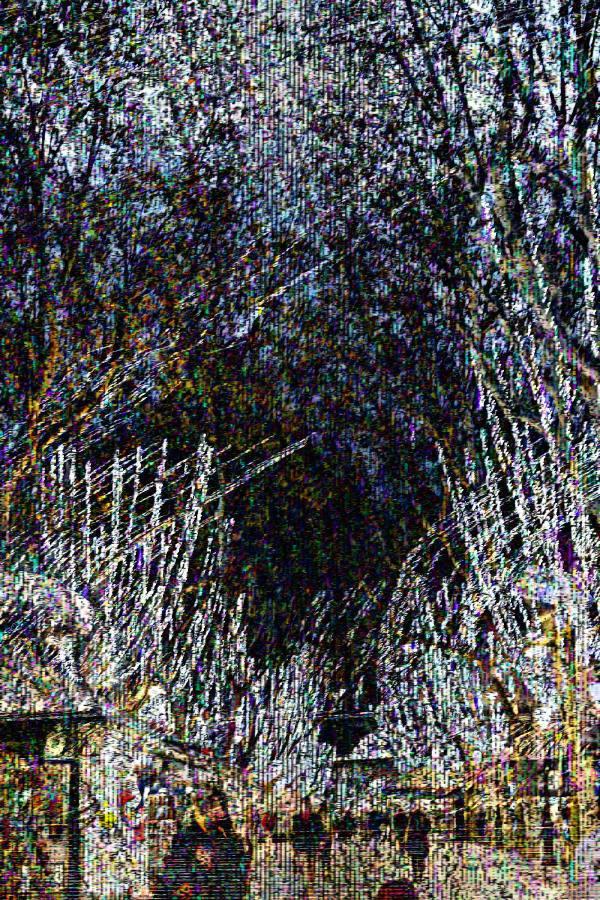 Barcelona street photo avec glitch/databending.
