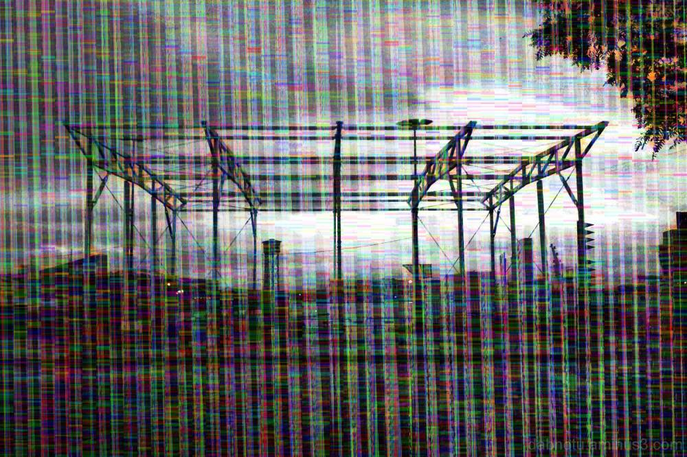Barcelona street smartphone/databent/glitched img.
