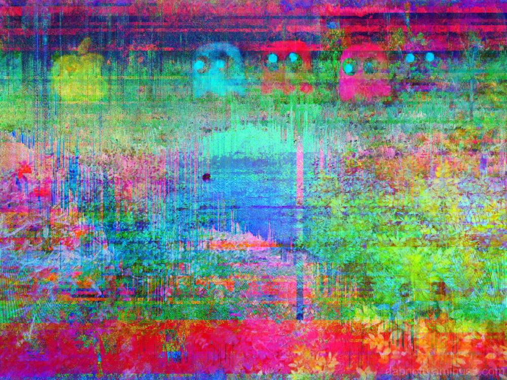 Databent/glitched/pixel sorted/layered street pic!