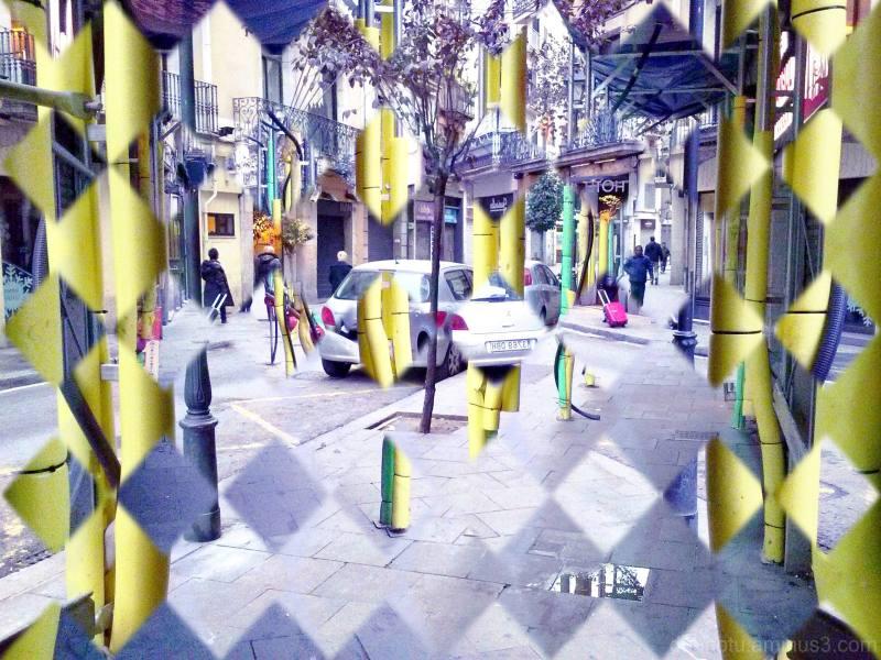 Barcelona street smartphone photography, edited.