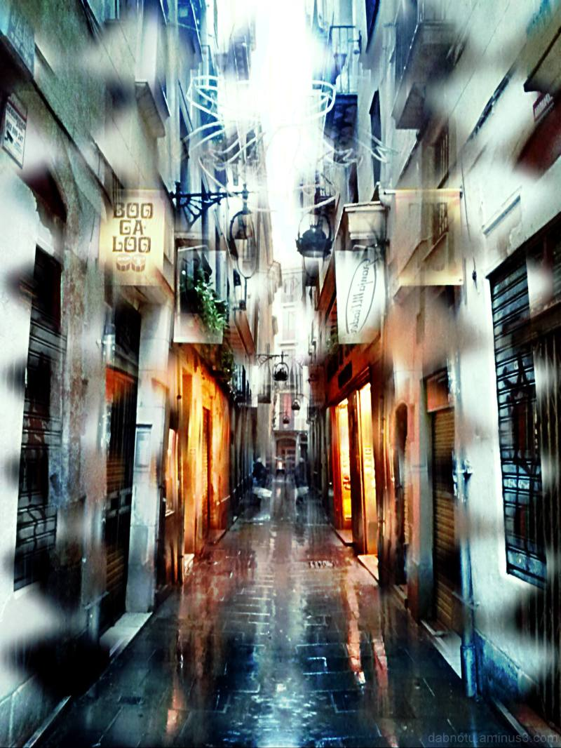 Barcelona street smartphone photography, edited.