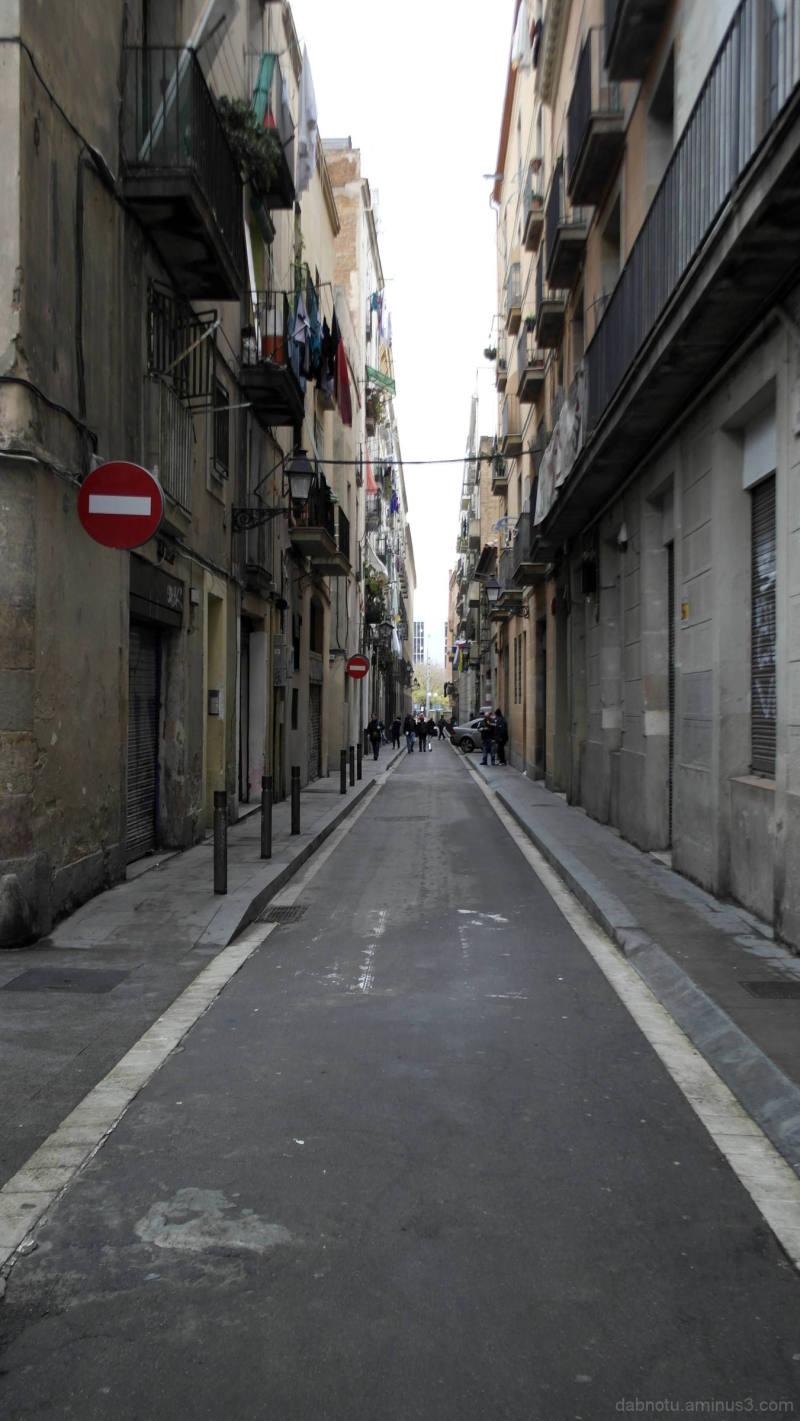 A view down a Raval, Barcelona, street.