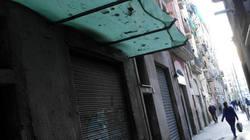 Raval, Barcelona, street, morning, a bit lopsided.