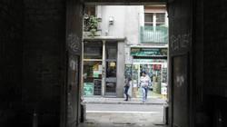 Morning scene through an archway, Raval/Barcelona.