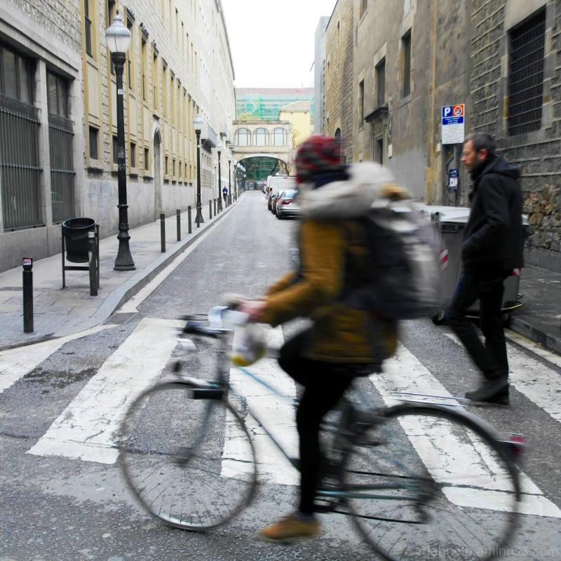 Biking or walking to wherever, Raval, Barcelona.