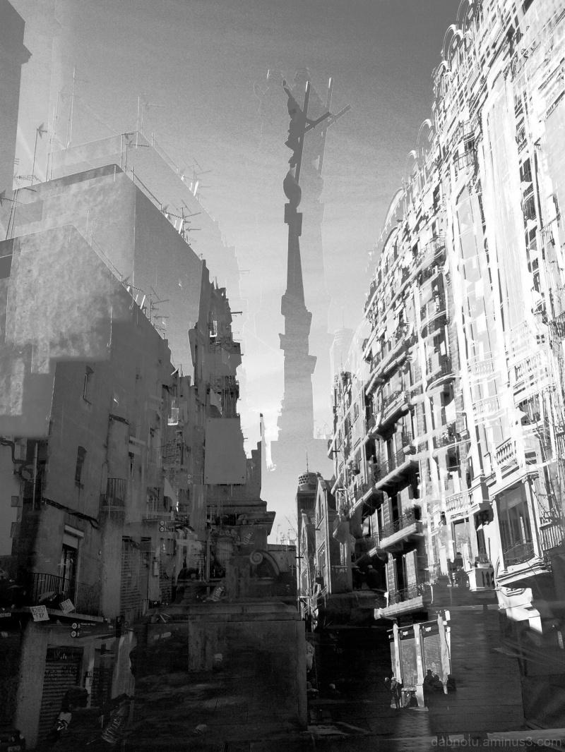 Barcelona/street/grayscale/smartphonography/GIMP!