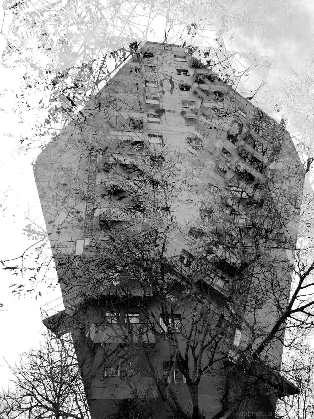 Barcelona grayscale street smartphone image, GIMP!