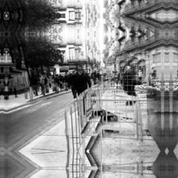 Monochrome street Barcelona smartphonography edit.