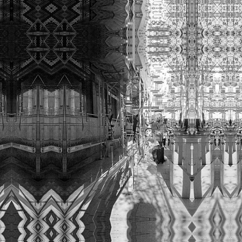 Barcelona monochrome street smartphonography edit.