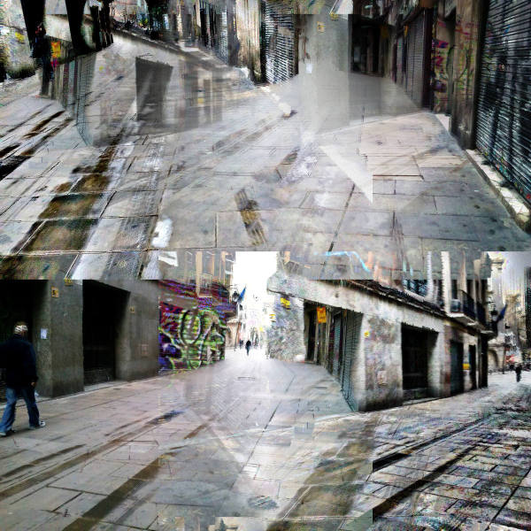 Barcelona street smartphonography edit, The GIMP!