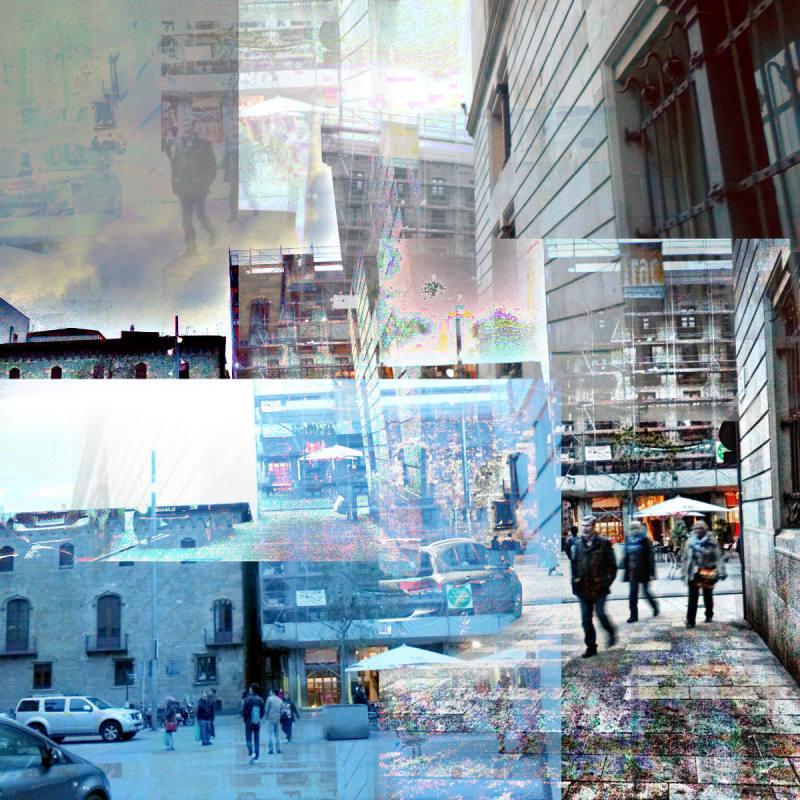 Barcelona street smartphone images, edited w/GIMP!