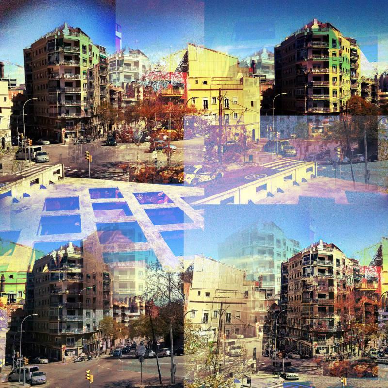 Barcelona street smartphone image edited w/ GIMP !