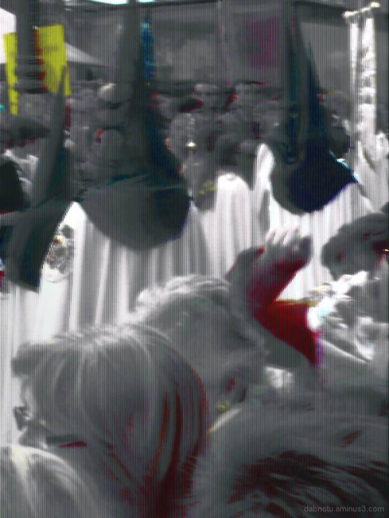 Barcelona glitched/edited street digital image.