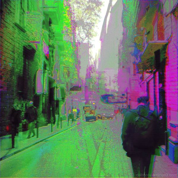 Barcelona glitch street digital photos + The GIMP!
