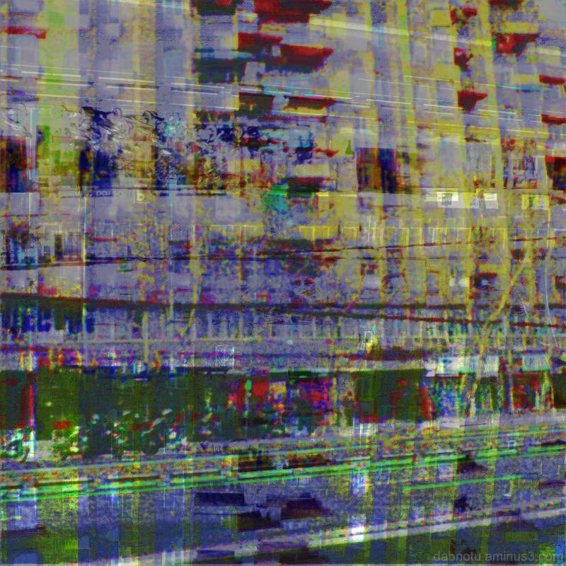Barcelona digital glitch street photos edit, GIMP.