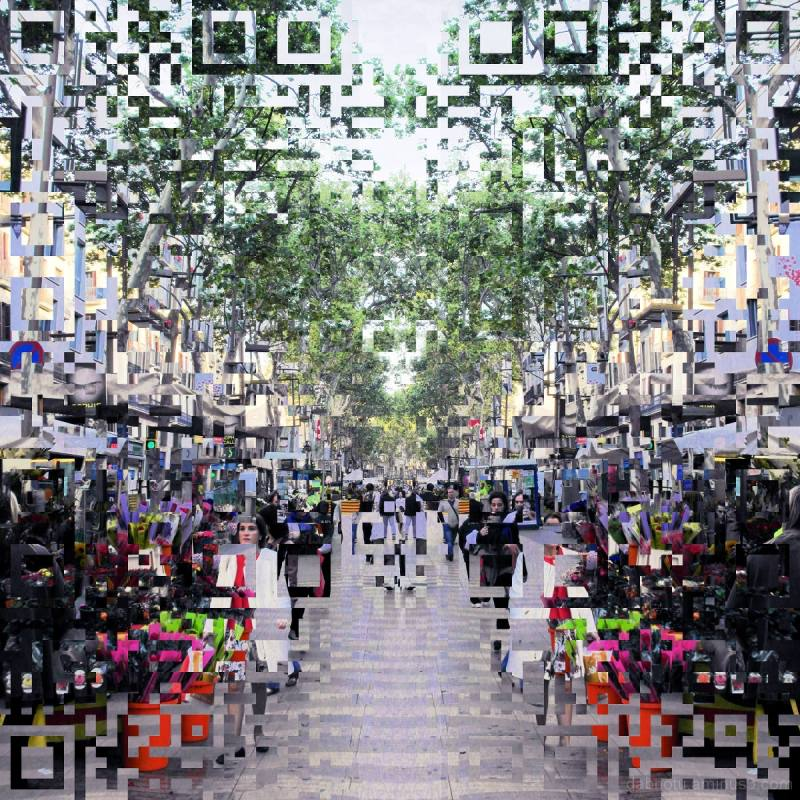 Barcelona digital street photography avec le GIMP!