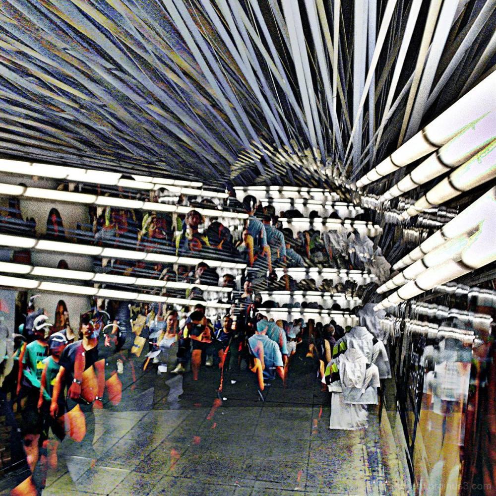 Barcelona metro/underground edit with The GIMP!